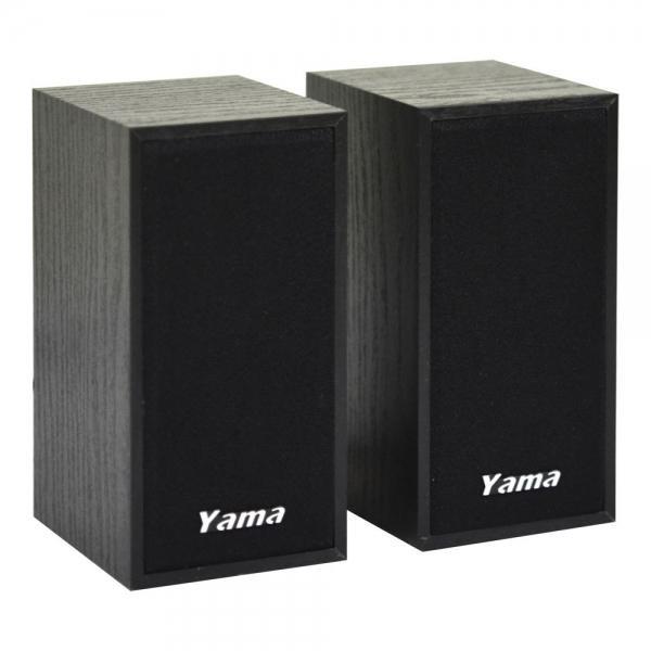 協明YAMA YA 2000 二件式木質喇叭USB 供電木質音箱線控音量大小可調
