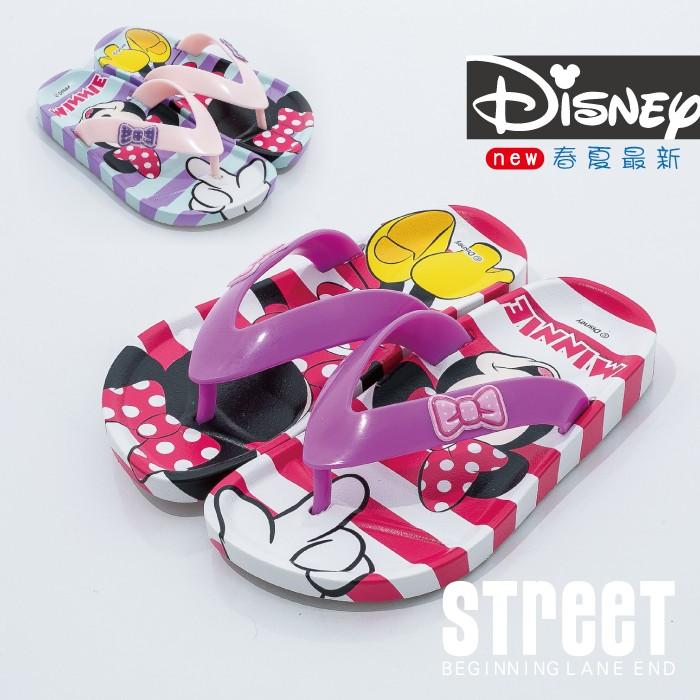~街頭巷口Street ~迪士尼Disney 米奇米妮可愛大頭米妮休閒童夾腳拖鞋KRM44