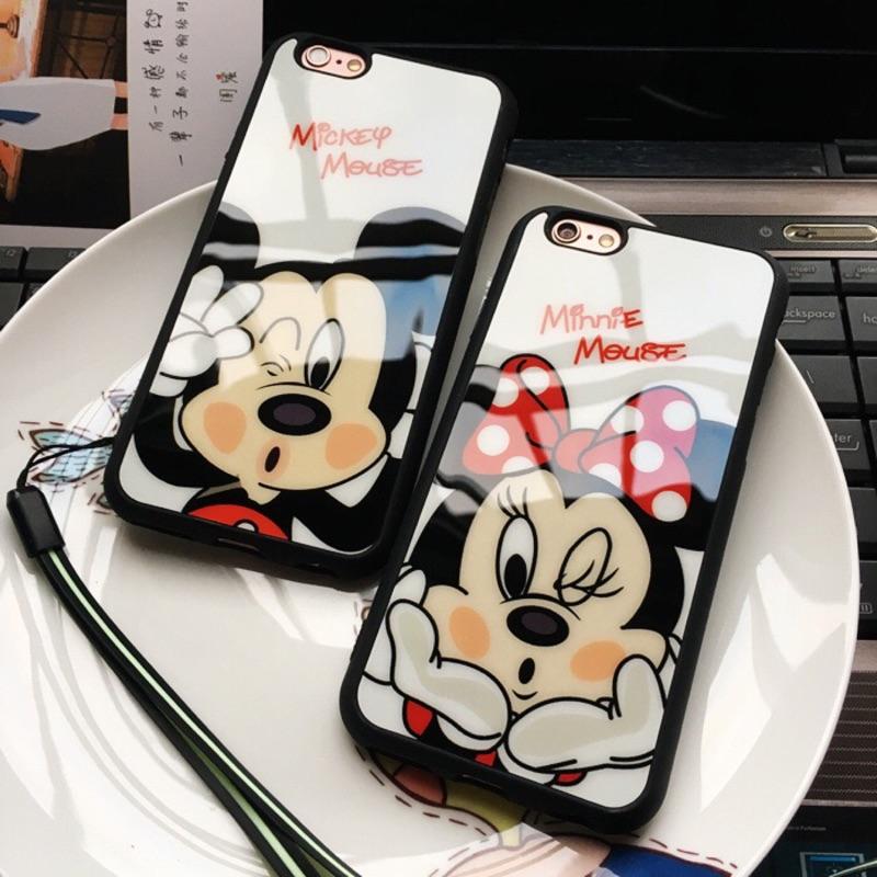 嘟嘴米奇米妮iphone7 7plus 6s 6plus 6splus 5se 手機殼ip