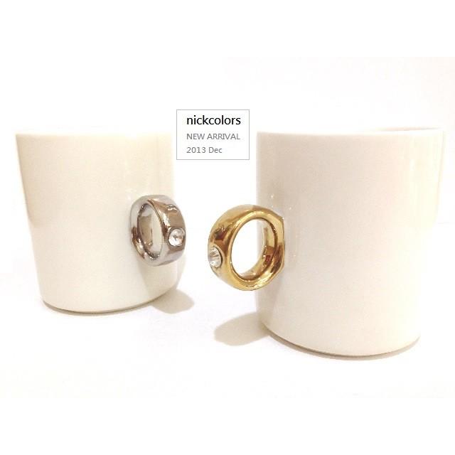 戒指陶瓷馬克對杯戒指杯馬克杯情侶對杯婚禮小物周年禮情人節 尼克卡樂斯
