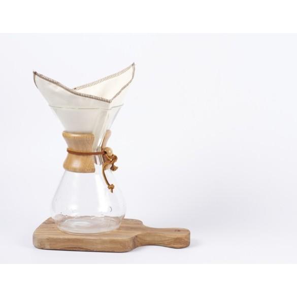 ▲DUO 搬遷 ▲有機棉環保咖啡濾布Chemex 四折
