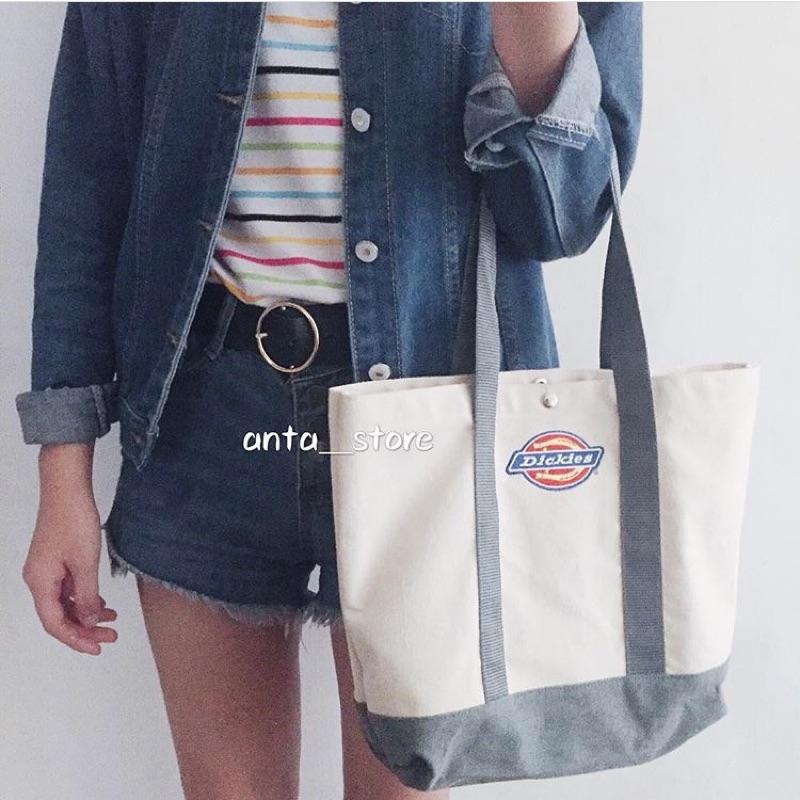 ANTA Dickies 刺繡帆布包化妝包兩件組