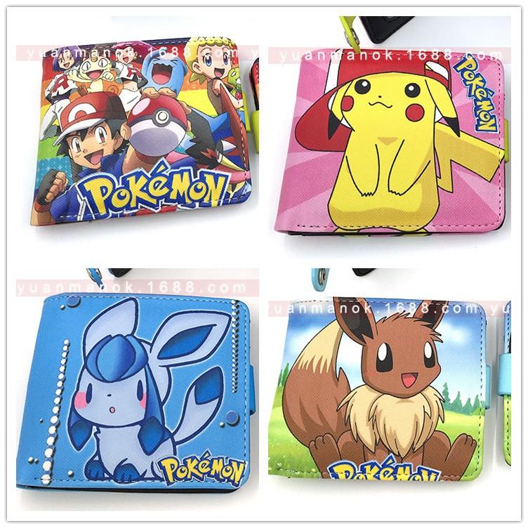 pokemon go 寵物小精靈伊布皮卡丘冰伊貝動漫短款錢包月伊貝葉伊貝包肩背包後背手提包