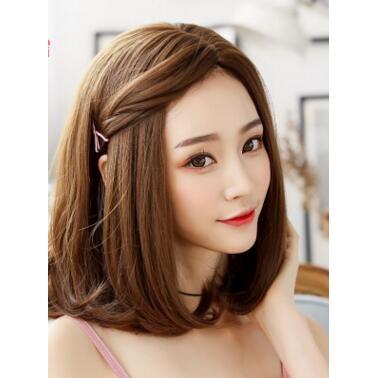 2017 潮流 女士假髮中分修臉蓬鬆短髮梨花頭 假髮套1082 1127