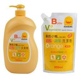 瘋狂寶寶黃色小鴨奶瓶蔬果清潔劑奶瓶清潔劑1 罐1000ML 1 補800ML 239 元