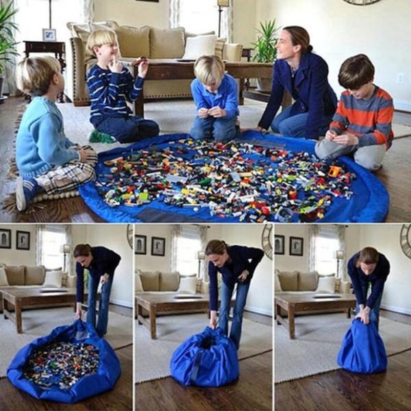 ~lilicoco 無限~~ 防水兒童玩具束口 收納袋牛津布整理袋旅行用防潮野餐墊露營用大