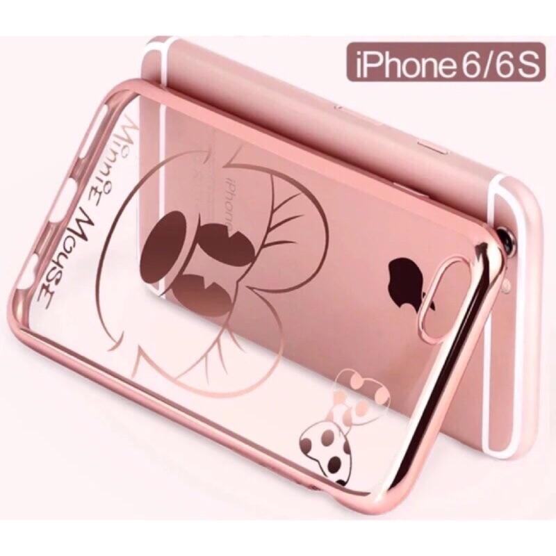 蘋果電鍍透明防摔卡通史迪奇唐老鴨米奇米妮情侶手機殼保護套iPhone6 IPhone6s