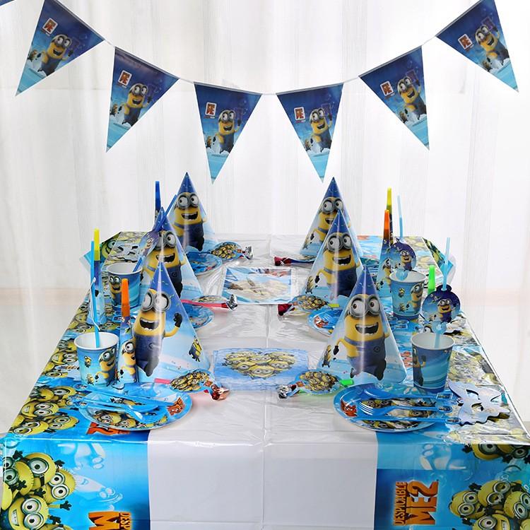 派對小小兵豪華版14 件6 人套餐組生日派對主題派對生日佈置
