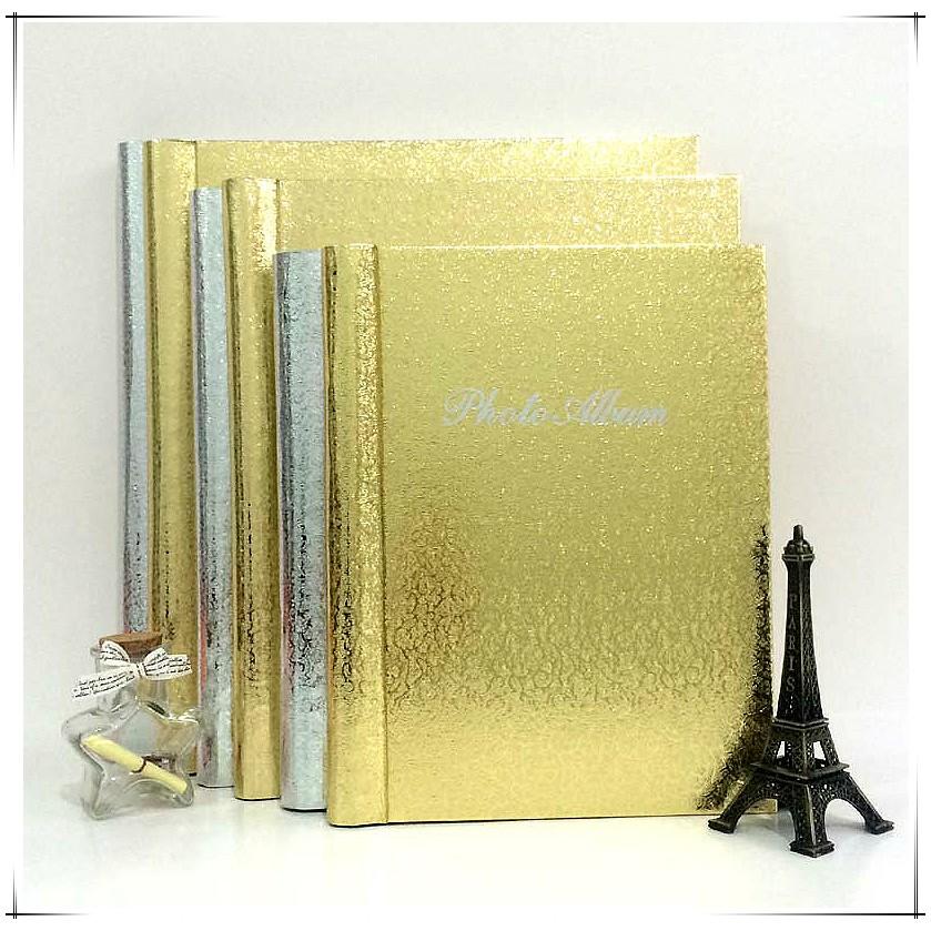 金銀色8 寸自粘貼式覆膜DIY 寶寶相冊家庭 影集本相簿