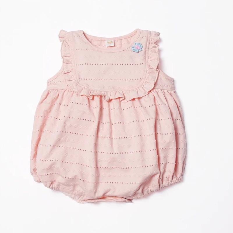 夏裝女童0 1 歲外出服新生兒包屁純棉連體褲