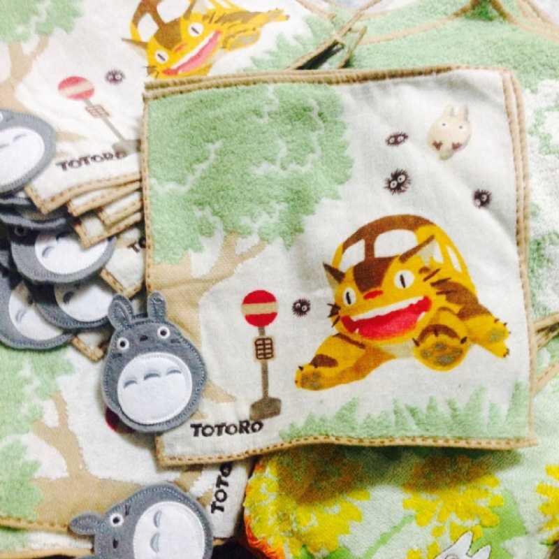 !立體龍貓超級水毛巾厚款小方巾25 25CM