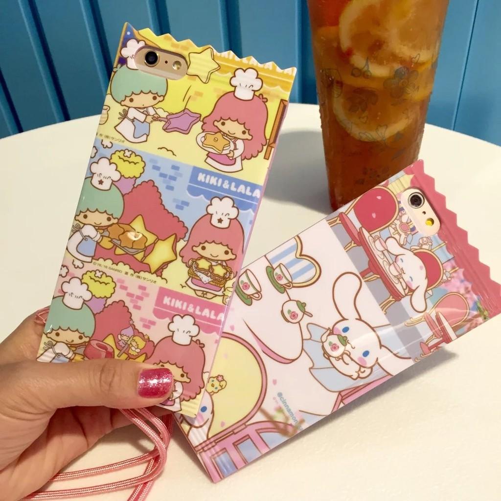 日韓爆款糖果包裝雙子星大二狗粉色送手機殼掛繩防摔矽膠軟殼iPhone6S 保護殼iPhon