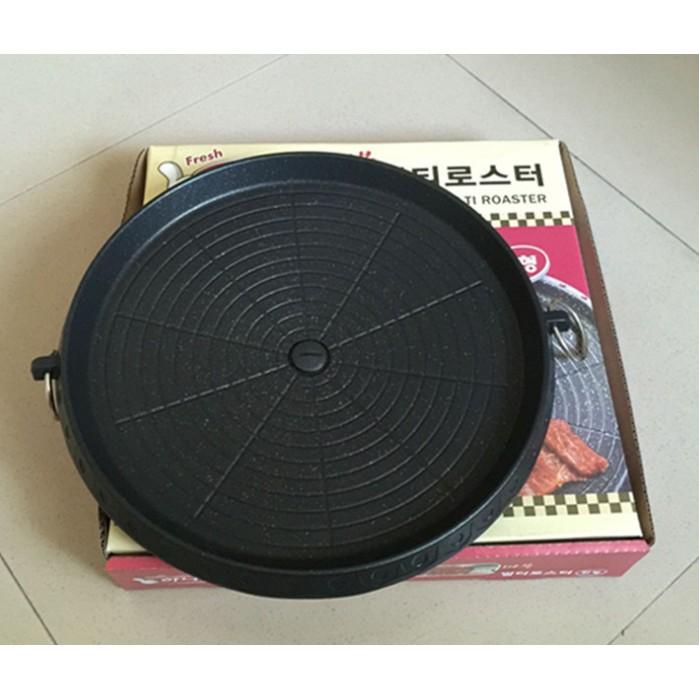 韓式烤盤韓國烤盤烤肉盤烤肉爐烤肉架導油 岩谷無煙烤盤不沾鍋卡式爐瓦斯爐