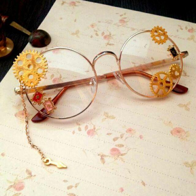 手作華麗復古風蒸氣龐克lolita 蘿莉塔基佬眼鏡