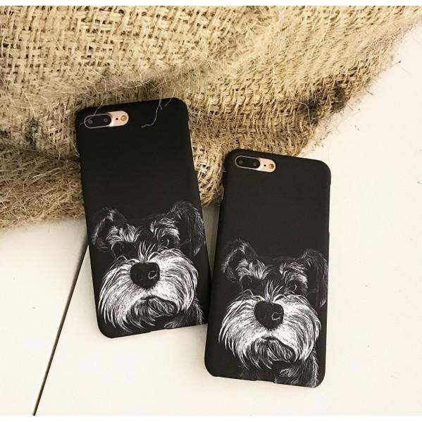 iPhone7 ⃣️寵物系可愛雪納瑞狗狗磨砂硬殼蘋果iPhone7 iPhone6 手機殼