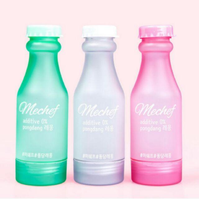 賣完就沒了風靡韓國女孩健康 ~Mechef BPA FREE 雙開蓋果漾矽膠水瓶500ml