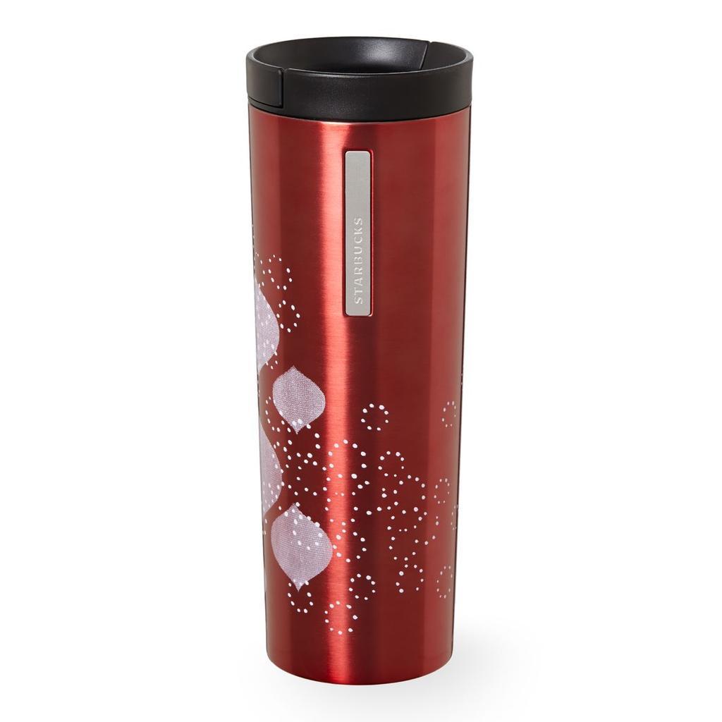 美國星巴克溫馨聖誕雪花紅不鏽鋼隨身杯不鏽鋼杯保溫杯保溫瓶杯子咖啡杯陶瓷杯Starbucks