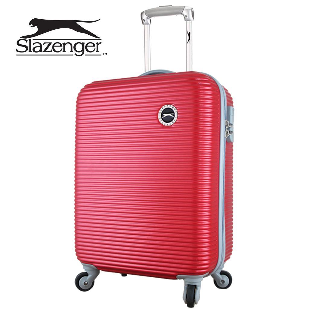 英國Slazenger 史萊辛格珠光橫條紋20 吋行李箱登機箱