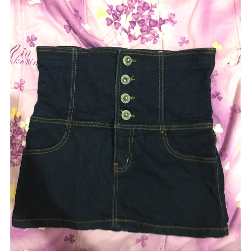 ❤️高腰牛仔裙短褲雙色 牛仔短褲丹寧牛仔黑色牛仔裙M L
