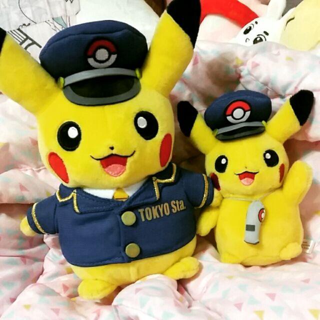 東京車站限定娃娃吊飾站長皮卡丘站務員皮卡丘