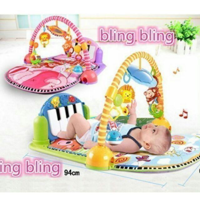 限宅配三合一遊戲墊踢踢腳鋼琴健力架玩具健身架費雪Fisher Price 同 之寶寶玩具