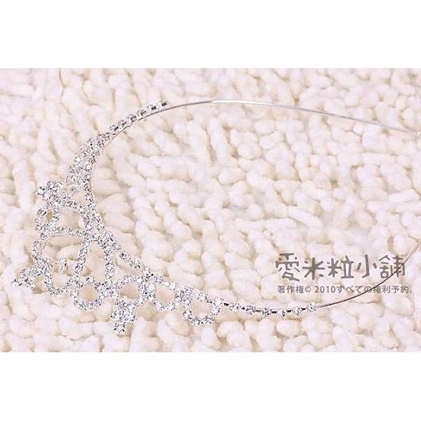 公主皇冠髮箍髮圈結婚禮服頭紗花童服表演服花僮音樂會拍照 ~愛米粒~C01