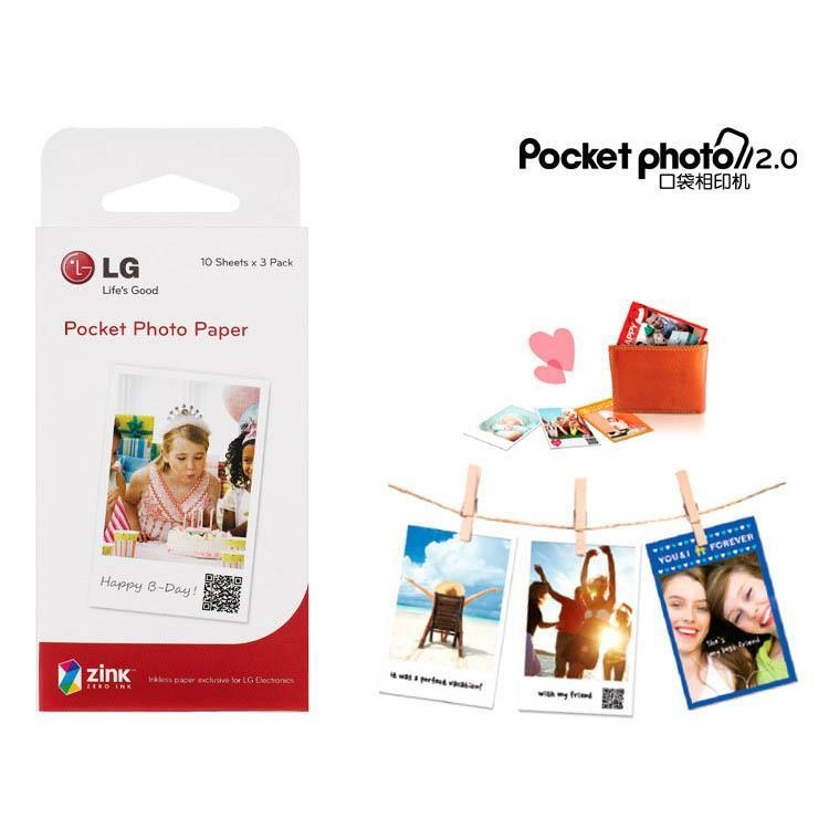 LG zink 口袋相印機相印紙30 張PD251 233 239 269 261 相紙拍