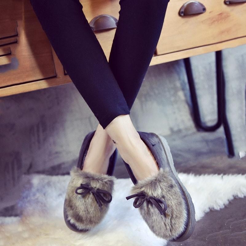 2016 加絨短靴女學生 防滑短筒雪地靴子單鞋保暖加棉鞋