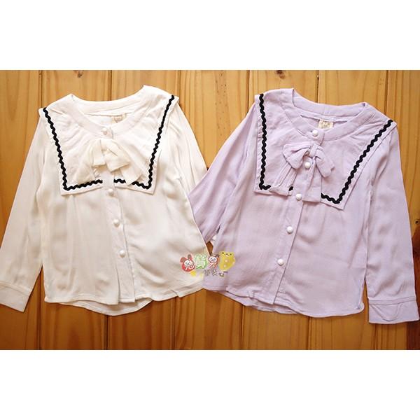 6829 小香風素色襯衫蝴蝶結薄款5 15 號中小童