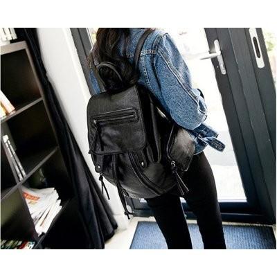回購率超高, 超好ZARA 專櫃 復古後背包,極美黑色只要988