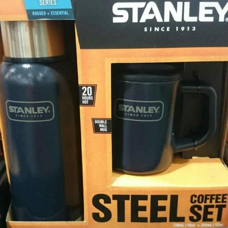 Stanley 不鏽鋼真空保溫瓶不鏽鋼馬克杯2 件組739 354 毫升Costco 好市