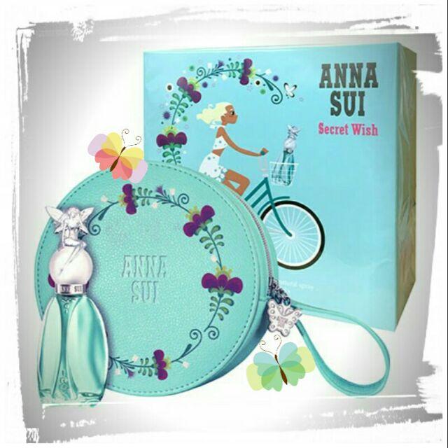 Anna Sui 安娜蘇 許願精靈女性淡香水禮盒 (淡香水30ml+圓形化妝包)公司貨,原價1380元,下單前先詢問貨量