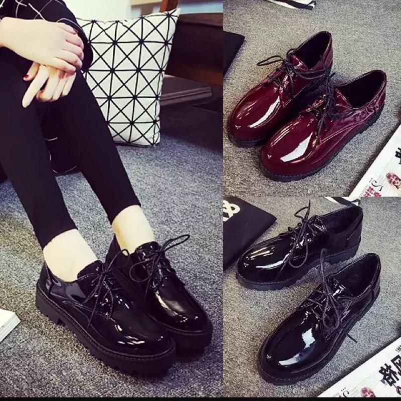 日系圓頭小皮鞋學院風流蘇牛津鞋 英倫復古單鞋女平跟平底女鞋