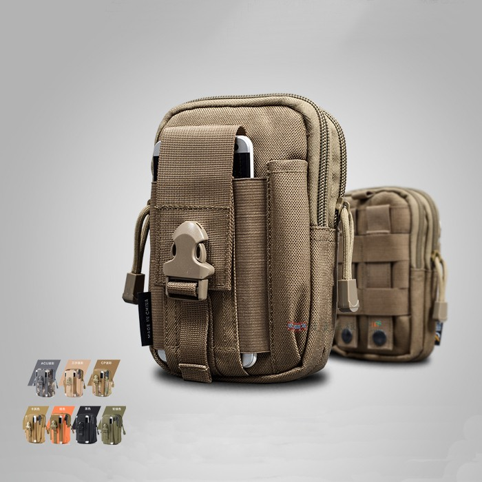 走走去旅行~戶外 多 迷彩戰術腰包休閒登山6 吋手機小包跑步穿皮帶防潑水手機包掛包腰包10