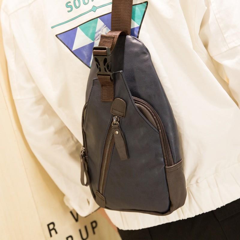 0A 純色優品小鋪胸包男士單肩包 斜挎包 戶外 包潮流斜跨男包背包包