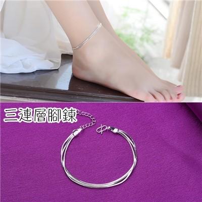 ~sky_shop ~s925 純銀腳鏈 簡約學生系清新鈴鐺女生款紅繩複古 腳繩
