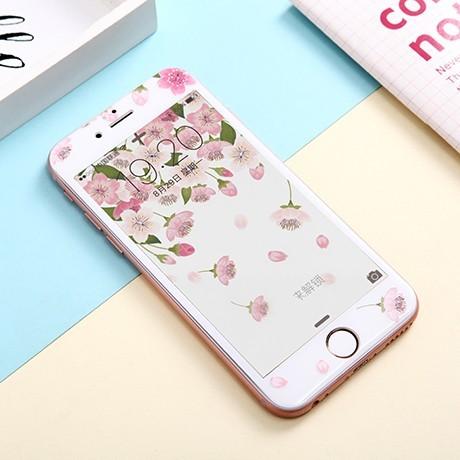 蘋果i6 I6S iphone6 iphone6plus 彩貼彩繪玻璃鋼化玻璃滿版玻璃櫻花