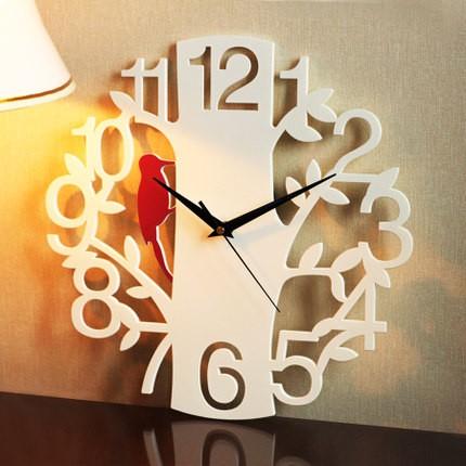 siton 掛鐘 靜音藝術 客廳大號掛表時鐘數字啄木鳥鐘錶