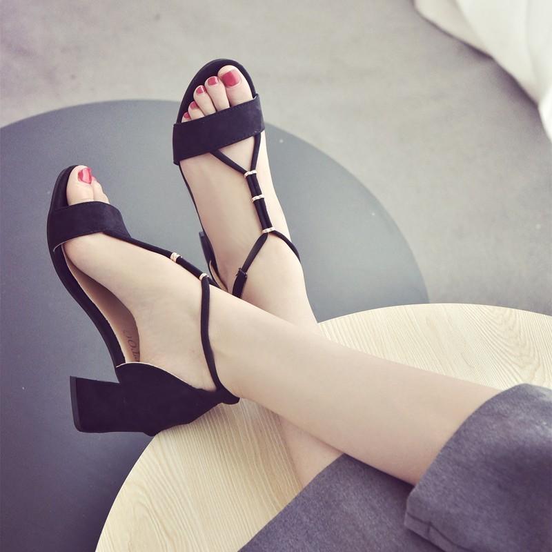 極限樂購 中跟粗跟涼鞋一字帶露趾涼鞋高跟鞋絨面高跟涼鞋粗跟鞋涼鞋涼鞋涼鞋涼鞋涼鞋涼鞋涼鞋涼