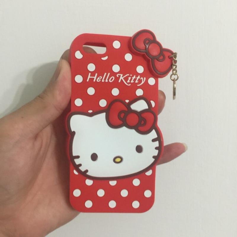 Hello kitty 凱蒂貓波點系列矽膠 手機殼紅色IPHONE 6 6s 4 7 吋