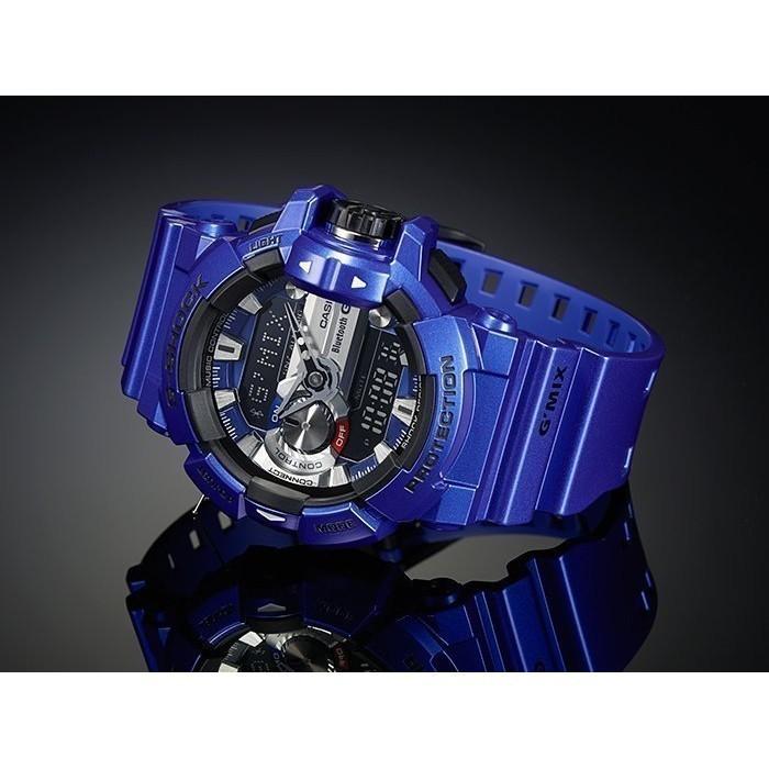 CASIO G SHOCK 卡西歐GBA 400 2A 大錶徑音樂控制藍芽炫彩寶藍藍黑
