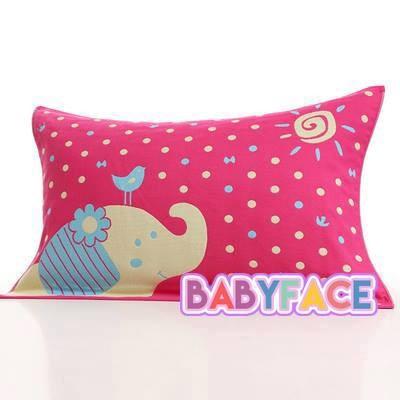 ~三層紗~太陽象紅藍純棉枕巾枕頭巾沙發巾柔軟舒適透氣大人小孩都愛用送禮可 50 75cm