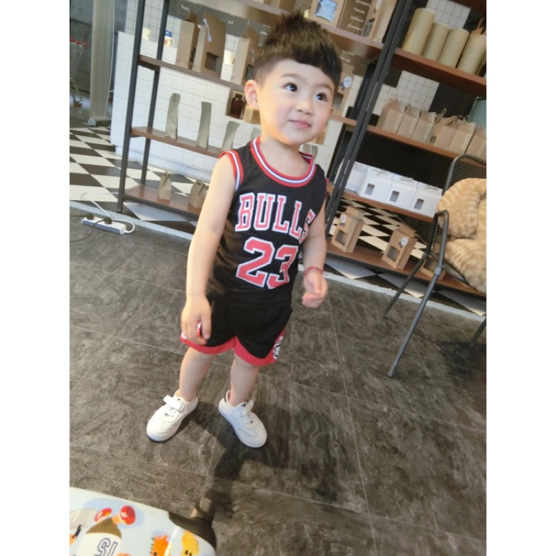寶寶男女童網眼透氣球衣籃球服背心 無袖套裝
