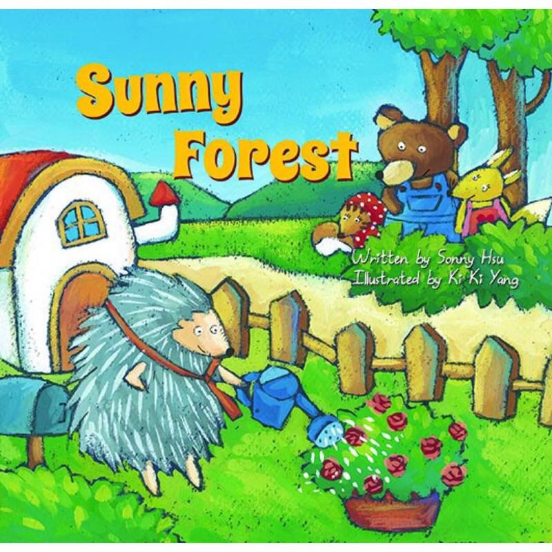 小小百老匯英文音樂劇繪本Sunny Forest (1 書1CD 及4 張彩色學習單)