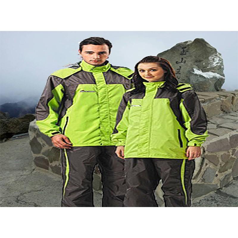達新雨衣達新牌休閒彩仕型風衣雨衣A09 蘋果綠灰兩件式登山騎士服 品牌8