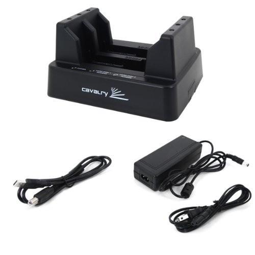 Cavalry USB 雙槽2 5 3 5 吋 硬碟外接盒具備RAID 磁碟陣列EN CA