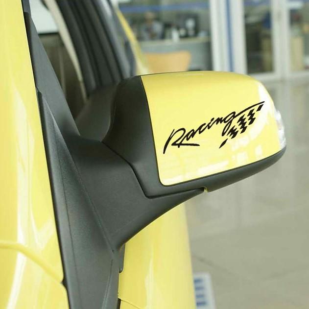 RACING 汽車後視鏡貼紙汽車改裝卡通汽車貼紙防水貼紙