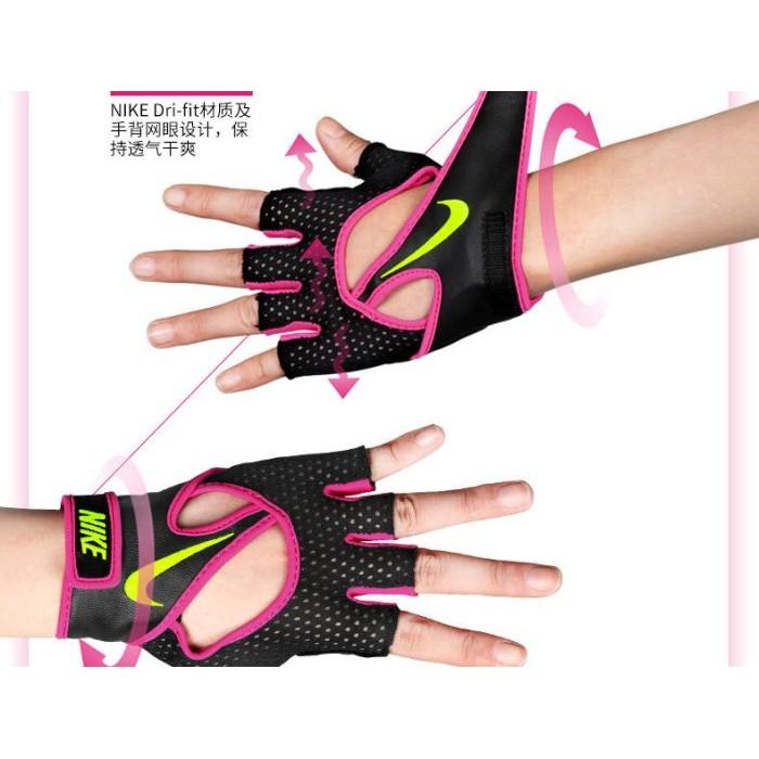 NIKE 女子半指手套健身重訓單車