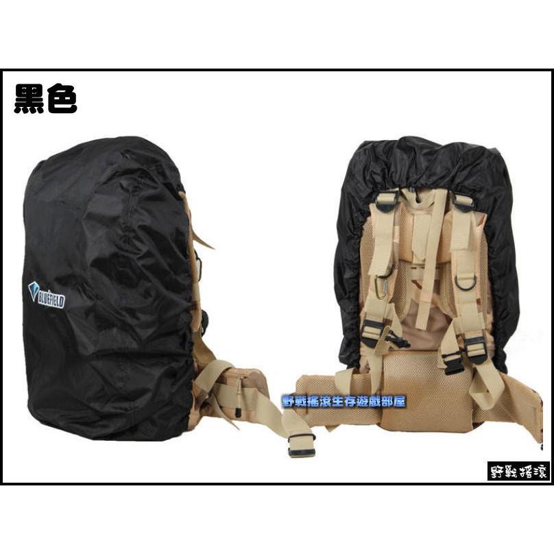~野戰搖滾~BLUEFIELD 背包防雨罩、防水罩~叢林迷彩、黑色~S 號 15 35L