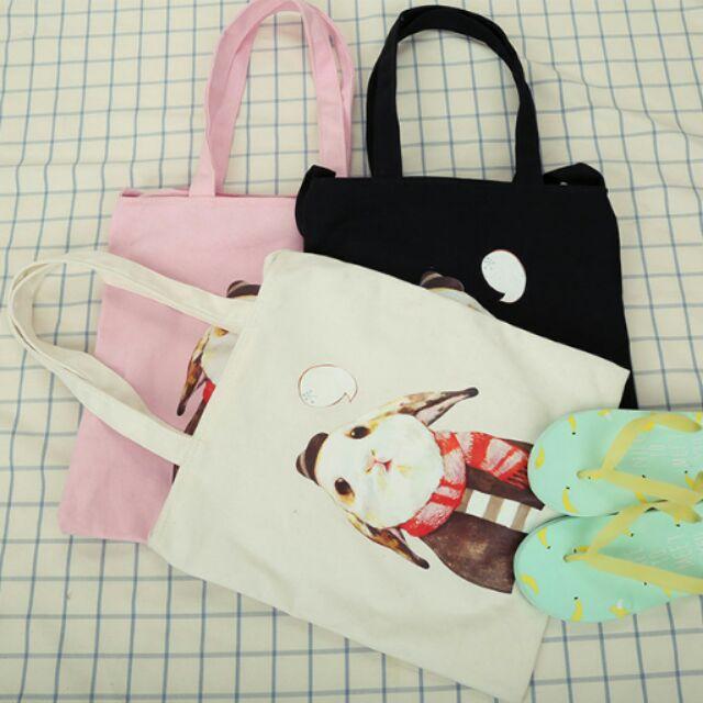兔兔背包~CAT s 貓森~ 清新兔子帆布肩背包斜背包︳臺灣自創品牌